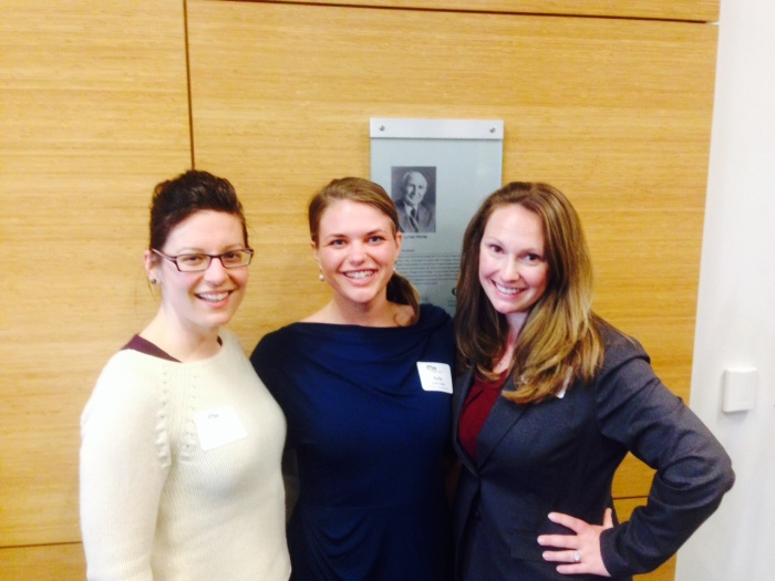 Shannon (left), Traci (right), and me at a personal branding for lawyers event.